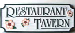Restaurant - Tavern Sandblasted Sign Myrtle Beach